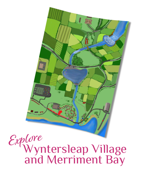 Wyntersleap Village and Merriment Bay Map